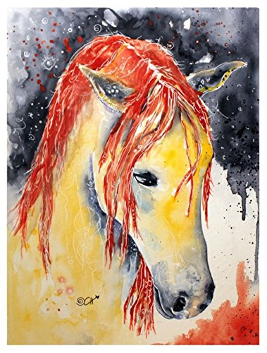 Horse watercolor painting as high-quality fine art print