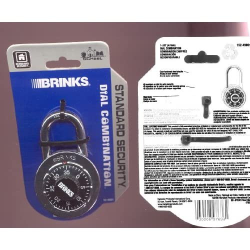 Reset Brinks Dial Combination Padlock.