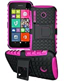Nokia Lumia 635 - Premium Quality Shockproof Defender Plastic Hard Back Case Cover + Free Clear Screen Protector + Polishing Cloth + Touch Screen Stylus Pen
