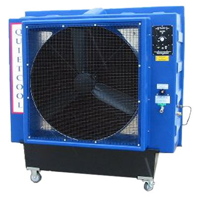 Quietaire QC36DVS 36 Inch Direct Drive Portable Evaporative Cooler With High Efficiency Cooling Pads
