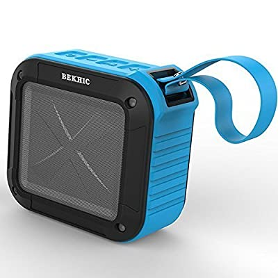 Top1 Bekhic Military Grade IP67 Waterproof Portable Bluetooth 4.0 Speakers with 15 Hour Playtime for Outdoor/shower with Mic Handfree and NFC Function