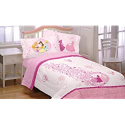 Disney Princess Hearts 3pc Pink Cinderella Twin Sheet Set