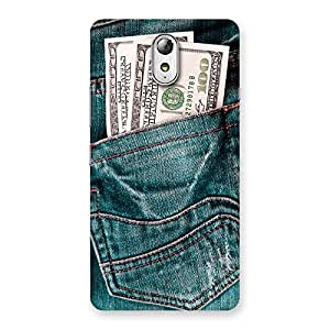 Cute Dollars Jeans Back Case Cover for Lenovo Vibe P1M