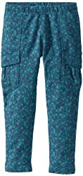 Tea Collection Little Girls' Printed Skinny French Terry Cargos