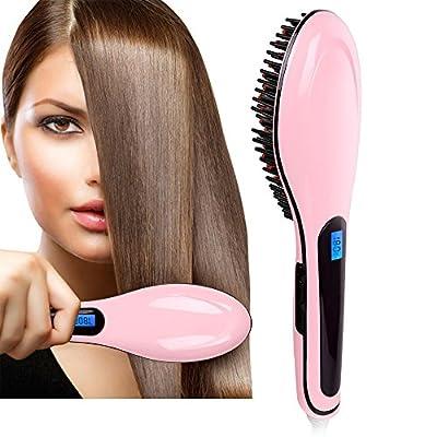 Pentop Hair Brush Dryer Anti Static Fast Hair Straightener Comb Ceramic Iron Brush Anion Hair Massager