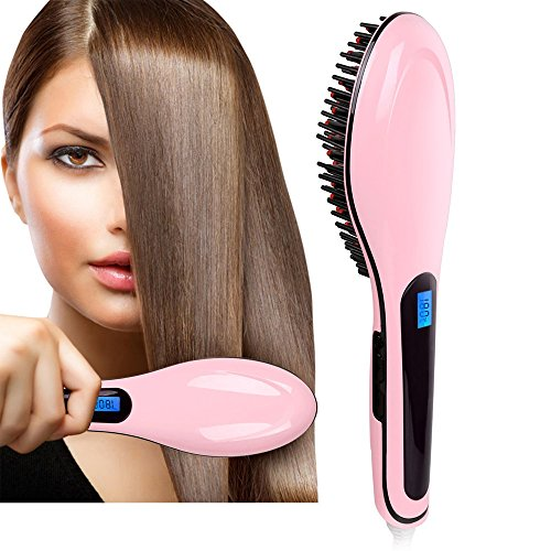 Pentop Hair Brush Dryer Anti Static Fast Hair Straightener Comb Ceramic Iron Brush Anion Hair Massager (Hair Dryer With Built In Comb compare prices)
