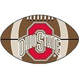 FANMATS NCAA Ohio State University Buckeyes Nylon Face Football Rug