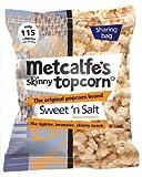 Metcalfe's skinny topcorn, Sweet 'n Salt flavour, 8x sharing bags (80g each)