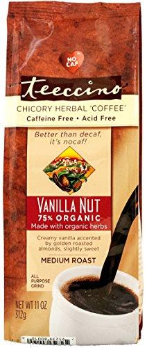 Teeccino Chicory Herbal Coffee Alternative, Acid Free, Caffeine Free, Vanilla Nut, 11 Ounce (Alternative Coffee compare prices)