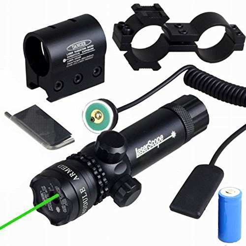 EconoLed Green 532nm Aser Sight Hunting Rifle Dot Scope with On/off Swith Picatinny/weaver Mounts + Barrel Mount (Laser Modules 2w compare prices)