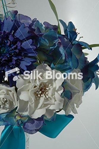 Moderne Aqua de table de mariage Arrangement Hortensia Bleu LILY ROSE