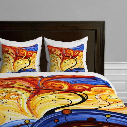Deny Designs Madart Whirlwind Duvet Cover, King back-921006