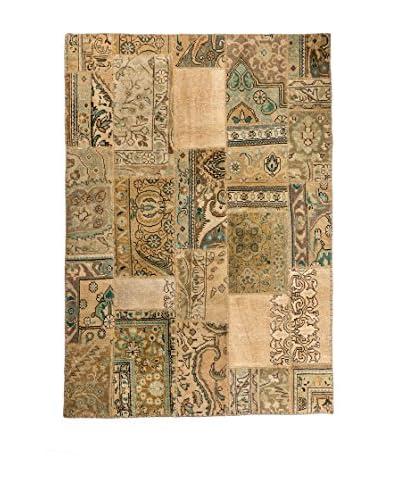 Navaei & Co Tappeto Orientale Vintage Patchwork Beige 185 x 128 cm