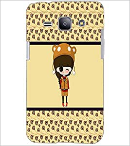 PrintDhaba Cute Doll D-5871 Back Case Cover for SAMSUNG GALAXY J1 (Multi-Coloured)