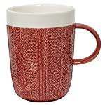 Red Cable Knit Mug
