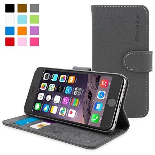 英国Snugg製 iPhone6用 PUレザー手帳型ケース グレー