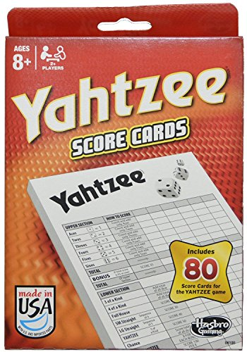 Buy Yahtzee 80 Score Cards