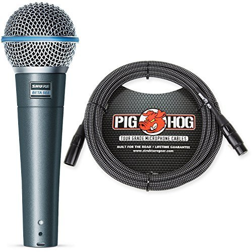 Pig Hog 20 ft Microphone Cable Lifetime Guaranteed Black White Woven Mic Cables