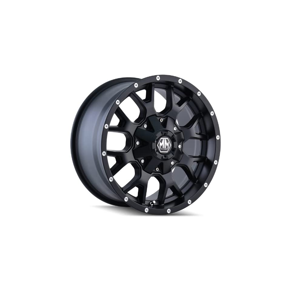 Mayhem Warrior 18 Black Wheel / Rim 6x5.5 & 6x135 with a  12mm Offset and a 108 Hub Bore. Partnumber 8015 8937MB Automotive