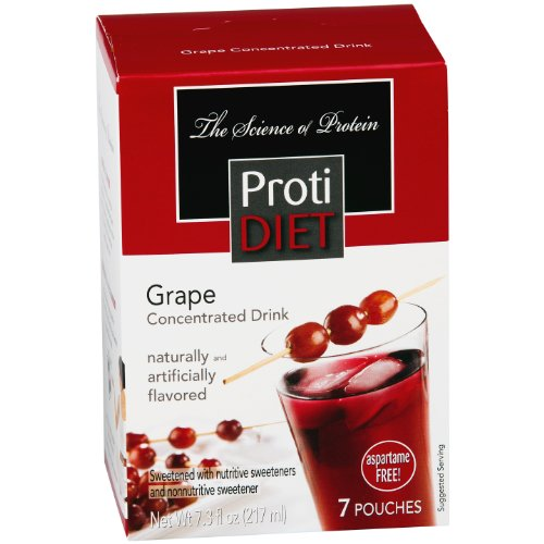 ProtiDiet High Protein Fruit Drink Concentrate - Grape (7 Servings/Box) (Amino Energy Grape 70 Servings compare prices)