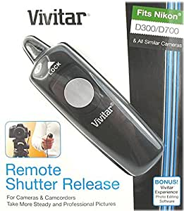Remote Shutter Release Cord for Nikon D300, D200, D2x, D3, D700 Digital SLR Cameras