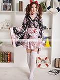 豪華 花魁 浴衣 着物ドレス 花魁ドレス 和服コスプレ コスチューム 帯付き コスプレ4015