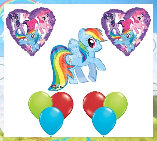 My Little Pony: Friendship Is Magic Happy Birthday Balloon Set