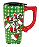 Spoontiques Naughty or Nice Travel Mug, Green