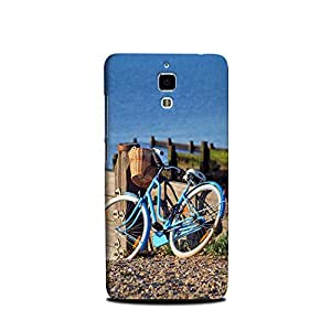 Xiaomi MI4 designer case and cover printed mobile back cover Blue Cycle