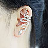 CIShop Vintage Vivid Snake Earcuff Earrings Punk Style Ear Wrap(Left Ear)