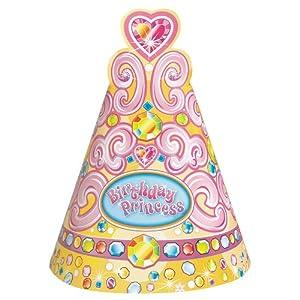 Unique Pretty Princess Party Hats (8 Count), Pink