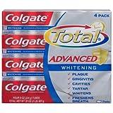 Colgate Total Advaned Whitening Toothpaste - 4 Tubes x 8 ounces per tube = 32 ounces