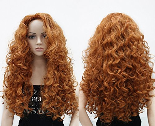 Onedor Fashion Long Hair Natural Curly Wavy Full Head Wigs