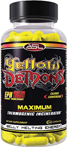 ASL Yellow Demons Fat Loss/Cutting Supplement & Premium Thermogenic Incinerator, 100 Capsules