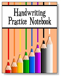 Handwriting Practice Notebook For Kids - Eight colored pencils provide some subtle inspiration and brighten the cover of this handwriting practice notebook for younger kids.
