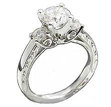 buy Top Grade Art Scroll Patterm Simulated Diamond Ring