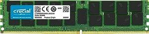 Crucial Bundle with 128GB (4 x 32GB) DDR4 PC4-21300 2666MHz RDIMM (4 x CT32G4RFD4266), Dual Ranked Registered ECC Memory (Tamaño: 32 Gb)