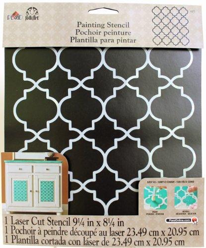 Plaid Handmade Charlotte Laser Stencils, Moroccan Tile