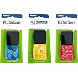Indestructo Pill Boxes - 2 Pack, Assorted Patterns