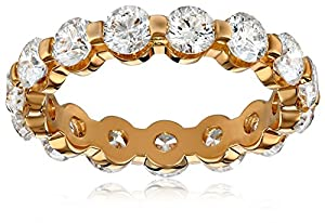 14k Yellow Gold Shared-Prong Diamond Eternity Band (3 cttw, H-I Color, SI2 Clarity), Size 6.5