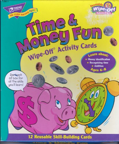 Time & Money Fun Wipe-Off Activity Cards - 1
