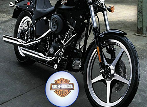 2 X 5Th Gen Car Door Motorcycle Shadow Laser Projector Logo Led Light For Harley Davidson All Models All Year
