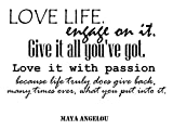 Maya Angelou Quotes Inspirational Wall Decals Vinyl Wall Art: A Wall Decal Inspiring Quotes - Famous Quotes Wall Decor - Wall Art Stickers Quote Decals - Best Removable Wall Decals Made in USA