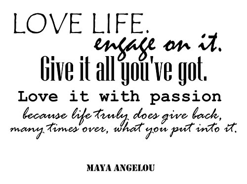 Maya Angelou Quotes Inspirational Wall Decals Vinyl Wall Art: A Wall Decal Inspiring Quotes - Famous Quotes Wall Decor - Wall Art Stickers Quote Decals - Best Removable Wall Decals Made in USA (Remove Pdf From Kindle compare prices)