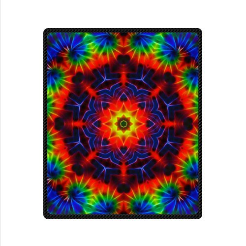 Colourful Tie Dye Soft Fleece Blankets 50 X 60 Inches (Medium)