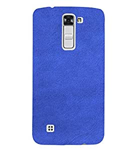 PrintVisa Blue Leather Design 3D Hard Polycarbonate Designer Back Case Cover for LG K7