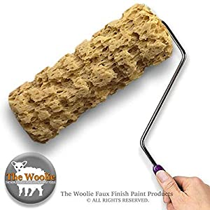 9 Inch Full-Sized Sponge Painting Roller - Faux Painting Technique Roller for Walls by The Woolie (Color: Natural, Tamaño: Large)