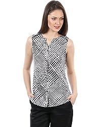 IRALZO Trendy Black Printed Shirt