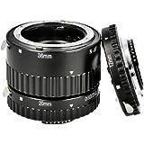 Automatik Zwischenringe 12/20/36mm für Makrofotographie passend zu NIKON D7000, D5200, D5100, D5000, D3200, D3100, D3000, D800, D700, D600, D300, D300s, D200, D90, D80, D70, D70s, D60, D50, D40, D40x, D3 Series, D2 Series, D1 Series *** Kontaktbereich aus METALL !!