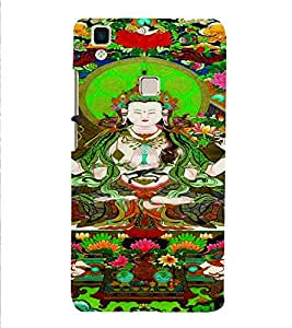 PrintVisa Corporate Print & Pattern Buddha Religious 3D Hard Polycarbonate Designer Back Case Cover for Vivo V3